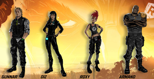 Les 4 personnages